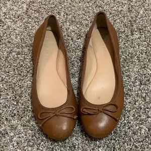 Brown slip on shoes
